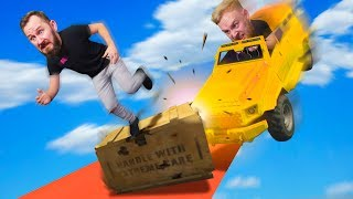 DODGE THE FLYING TRUCKS! | GTA5