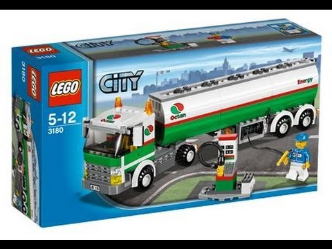 Find A Gas Station >> Lego City Octan Tank Truck Review - 3180 - YouTube