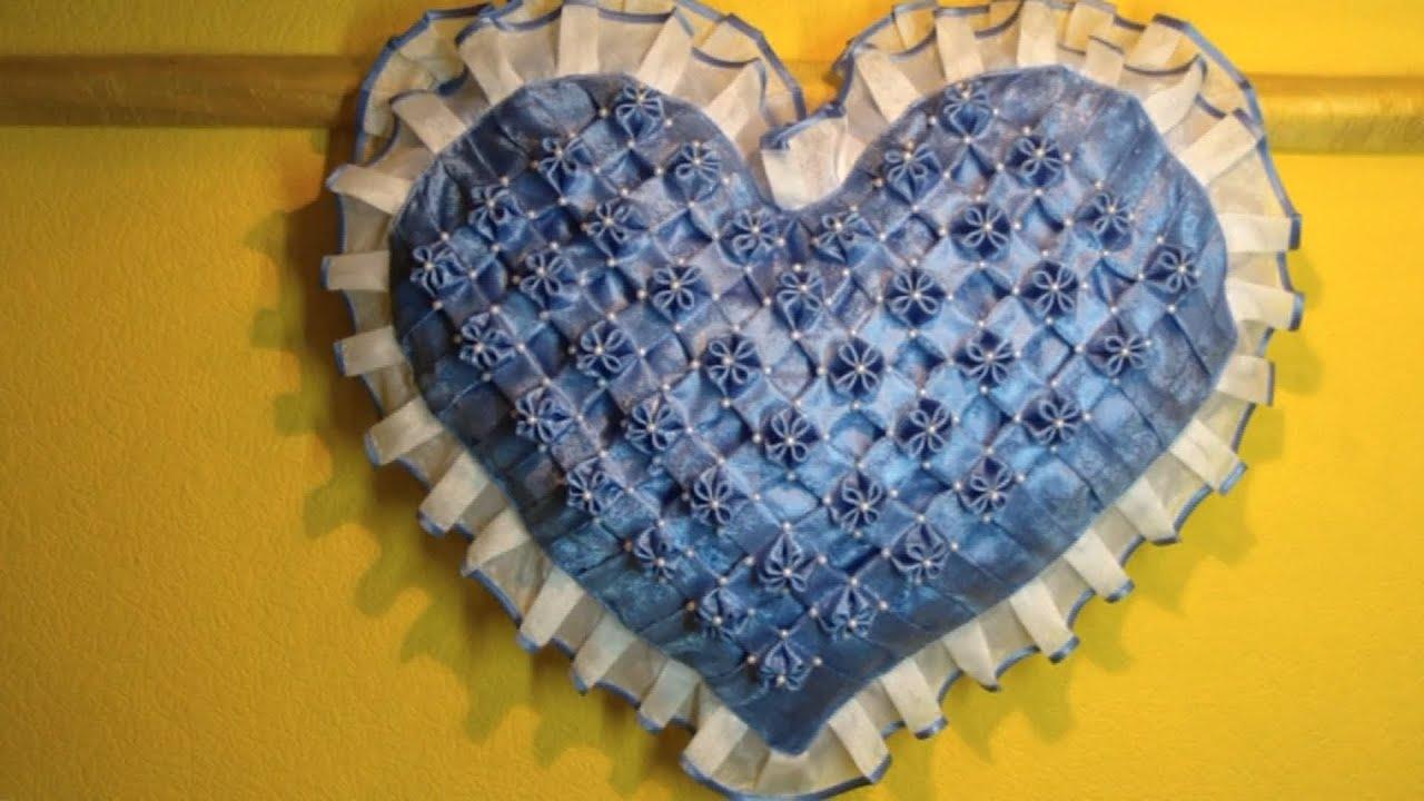 декоротивная подушка в виде розы схема