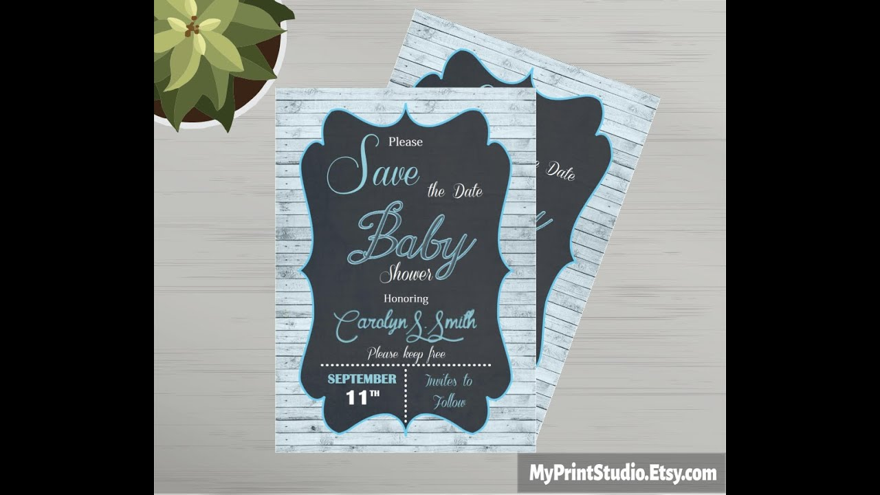 Save the Date Baby Shower Card Template made in MS Word ...