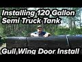 INSTALLING SEMI TRUCK FUEL TANK FOR VEGETABLE OIL CONVERSION