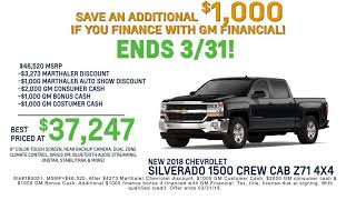 Extended Autoshow Bonus Cash at Marthaler Chevrolet Buick of Minocqua