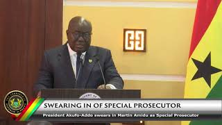 Swearing In of the Special Prosecutor