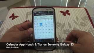 Calendar App Hands on & Tips on Samsung Galaxy S3