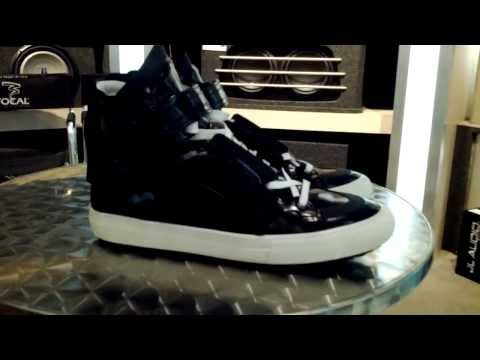Pierre Hardy shiny high top sneakers