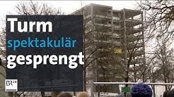 Spektakuläre Sprengung! Studentenwohnheim in Regensburg pulverisiert | BR24