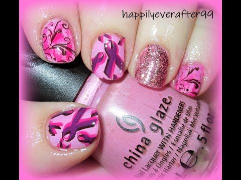 -Breast Cancer Awareness-  Nail Art Tutorial thumbnail
