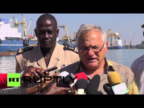 Detained Russian fishing vessel brought to Dakar port