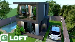 Modern House With Loft - Planner 5d Speed Build | Ayuh