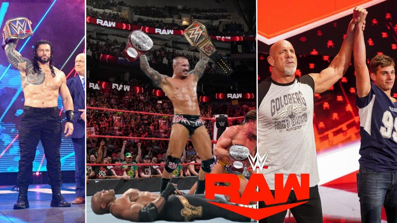 WWE Monday Night Raw 13th September 2021 Highlights, Goldberg Spear Bobby Lashley   Roman reigns