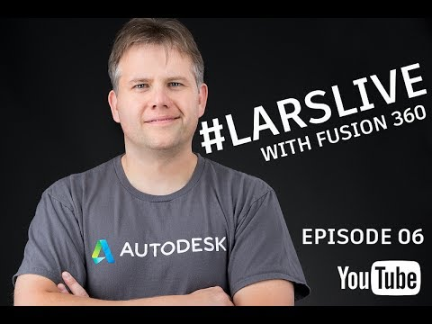 Fusion 360 Sketch Constrains & How to start a Car Rim — And Your Comments & Questions — #LarsLive 06