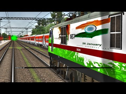 Republic Day Special Express Train || Northern Railways || Indian Train Simulator || By MSA Repaints
