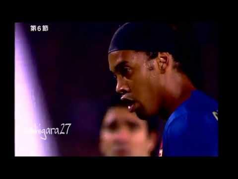 Ronaldinho sorprende a todos con este tiro libre