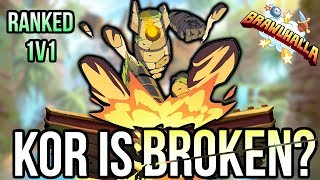 Playing Ranked 1v1 withBrokenKOR Brawlhalla Gameplay
