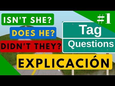 Tag Questions explicación en español y ejemplos - Estructura Gramatical en Inglés [Video 1]