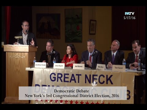 GREAT NECK DEMOCRATIC CLUB-NY 3rd CONGRESSIONAL DISTRICT DEBATE 2016