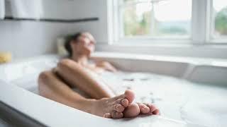 ASMR  - relaxing home spa (Foot Bath, Scrub, Scalp & Body Massage)