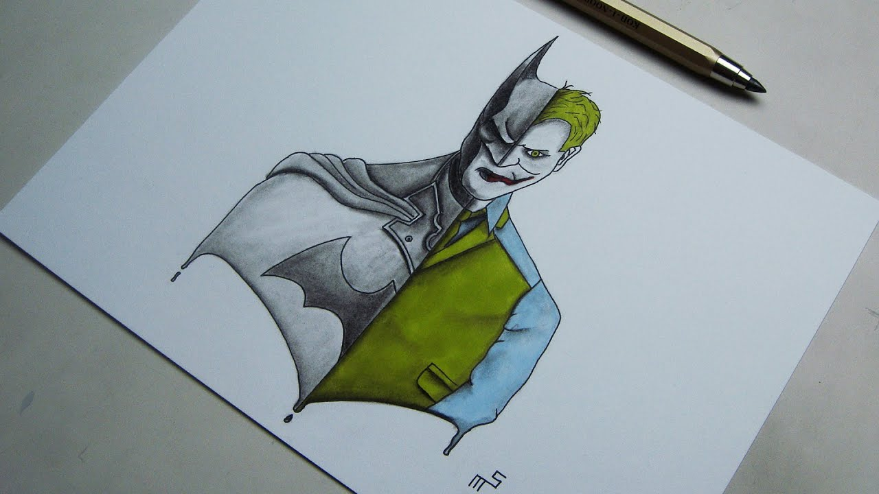 Speed Drawing: Batman vs Joker | Artwork - YouTube