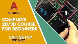 AutoCad 2D/3D Tutorials in Urdu/Hindi - Part 4 Unit Setup