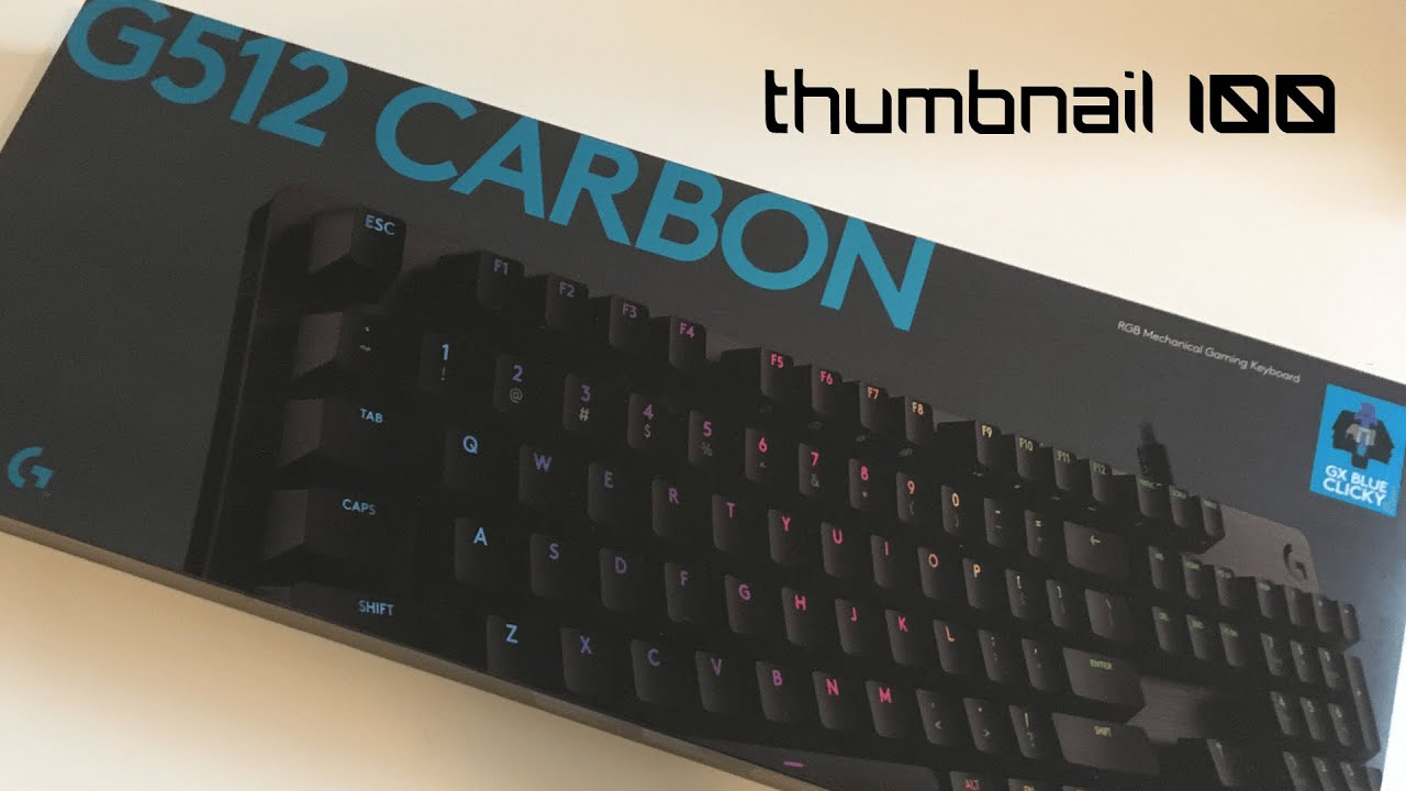 Logitech G512 Carbon Unboxing And Review Youtube