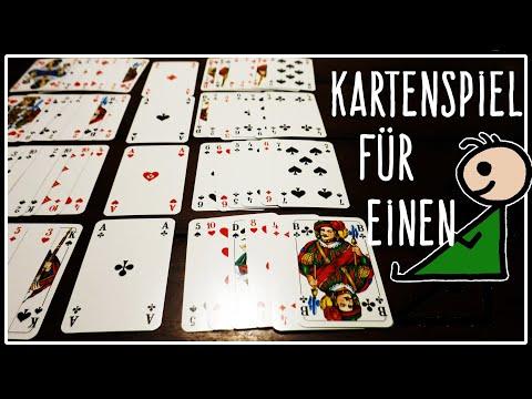 Kartenspiel Für Eine Person | Alleine Spielen Bei Langeweile | Solitär | Belagerte Burg