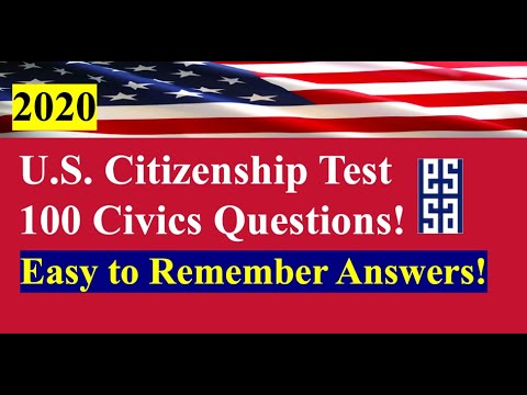 2020 100 Questions For U.S. Citizenship - Easy Answers/Random Order!