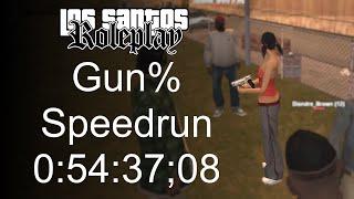 HOW FAST CAN YOU GET A GUN? - Gun% Speedrun (0:54:37;08) • LSRP