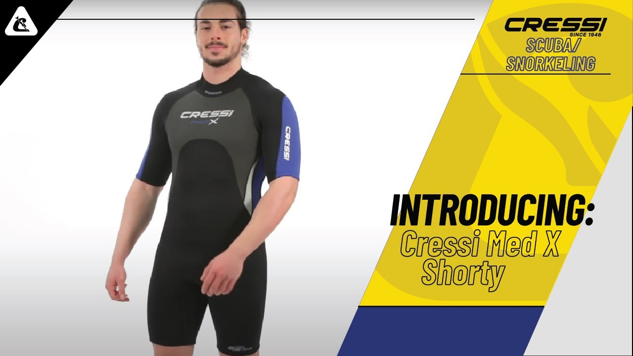 5944bc7bc5 Cressi Med X – A shorty one-piece wetsuit for water sports and tropical seas