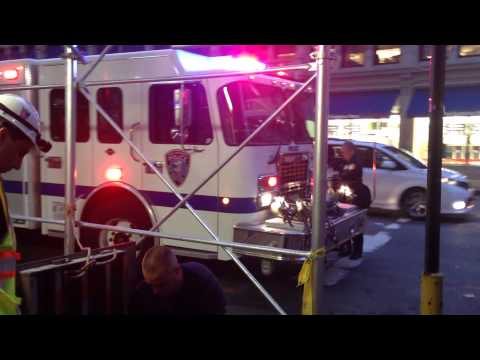 NEW YORK AND NEW JERSEY PORT AUTHORITY POLICE EMERGENCY SERVICES UNIT ON SCENE OF A 2 ALARM FIRE.