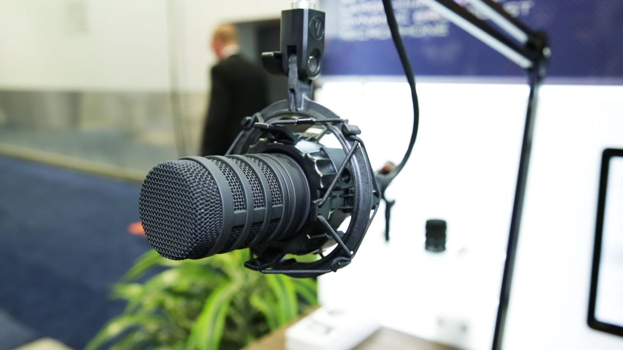 nab 2015 audio technica bp40 dynamic broadcast mic youtube. Black Bedroom Furniture Sets. Home Design Ideas