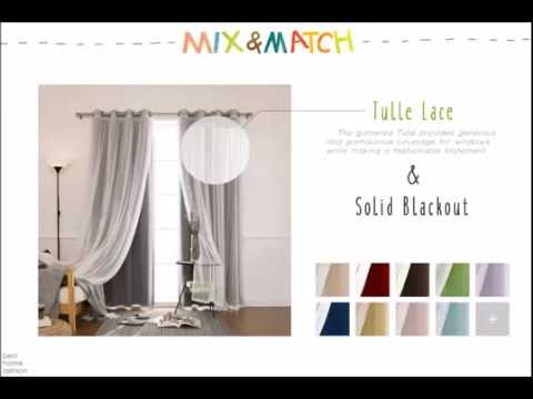 Best Home Fashion - Mix and Match Curtains (Tulle Lace & Solid Blackout)