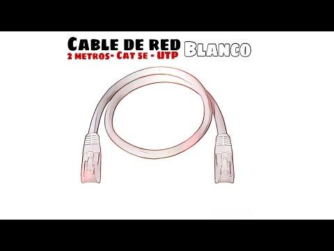 Video de Cable de red UTP CAT5E 2 M Blanco