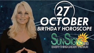 Birthday October 27th Horoscope Personality Zodiac Sign Scorpio Astrology