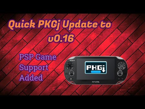PKGj Updated to V0 16 - Adds Support for PSP Games!!! - YouTube