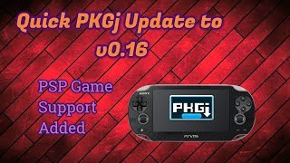 PKGj Updated to V0.16 - Adds Support for PSP Games!!!