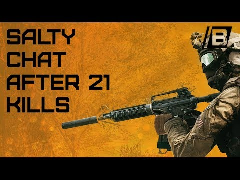 BF4: A Very Salty Chat After A 21 Killstreak - Pickup Sniper Gameplay