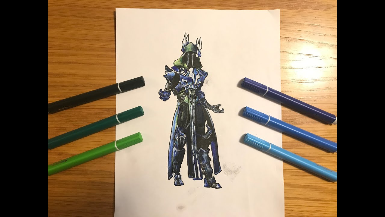 How To Draw Ice King Fortnite Season 7 Part 2 Colouring Youtube