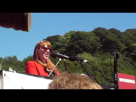 Angela Rayner Labour Shadow Secretary of State for Education at Durham Miners' Gala