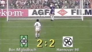 Hannover 96 - Borussia M´Gladbach   Pokalfinale 1992   Das Elfmeterschießen