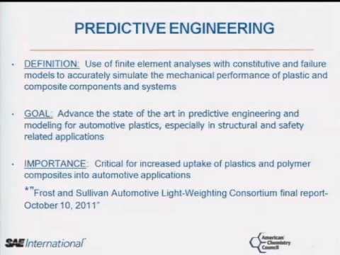 Composite Predictive Engineering Studies - American Chemistry Council Plastics Division