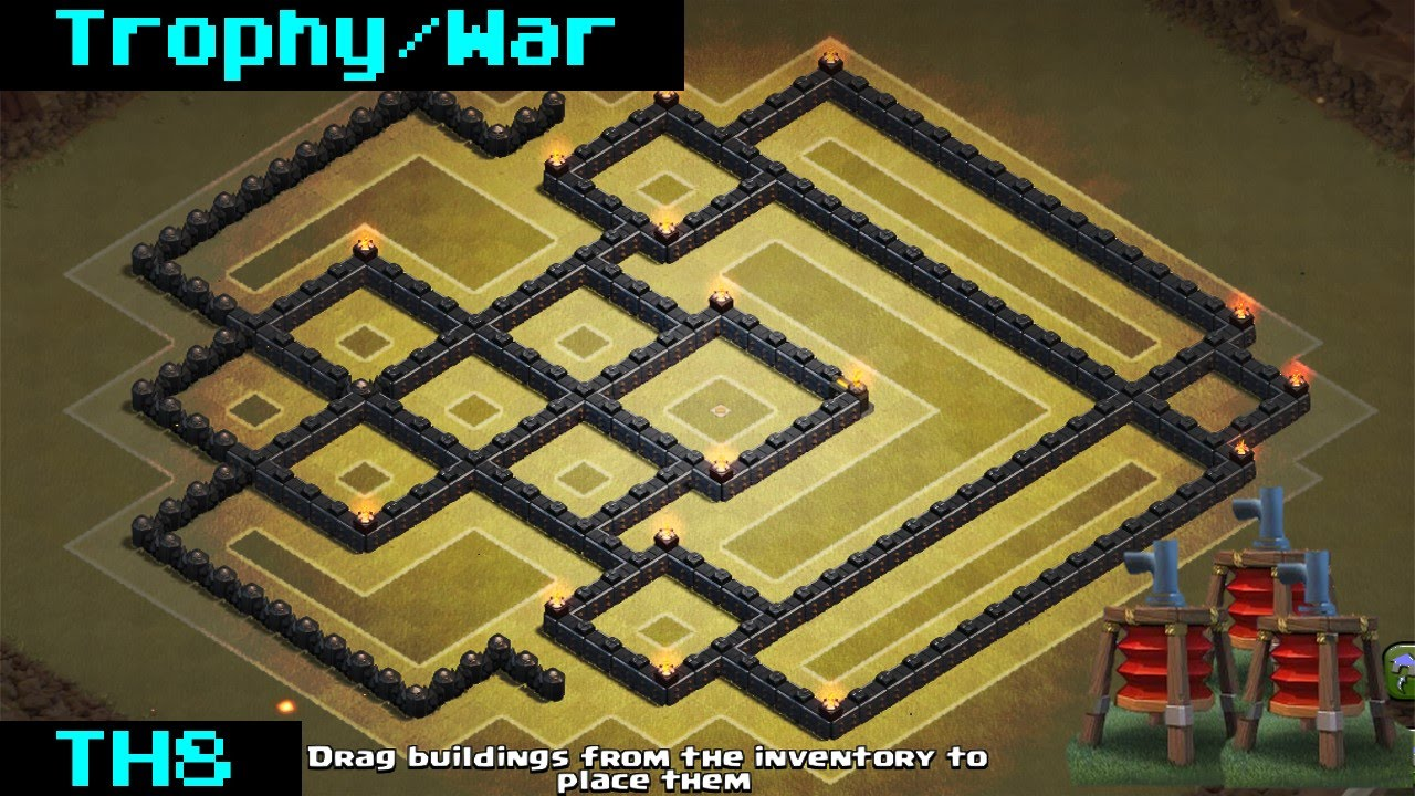 Clash of clans th8 anti air war base 2015 sweeper youtube