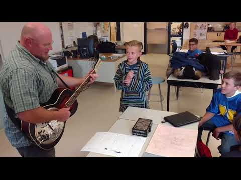 Chris Rowlands Writes a Song with Students in Dubois, Wyoming