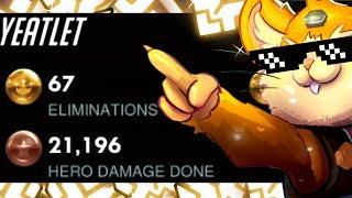 67 ELIMS! Grandmaster Hammond Gameplay - Yeatle! [ OVERWATCH SEASON 18 TOP 500 ]