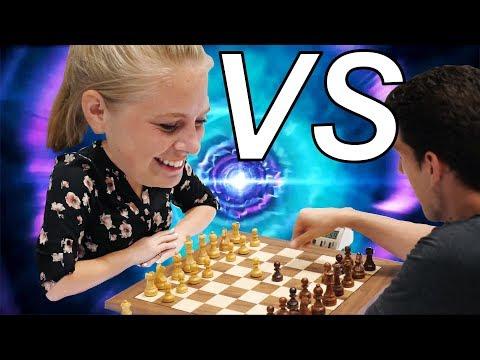 PC Gamer Girl Learns Chess From Grandmaster - Qatar vlog #409