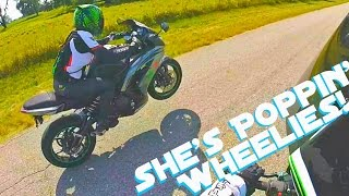 Teaching My Girlfriend How To Wheelie!