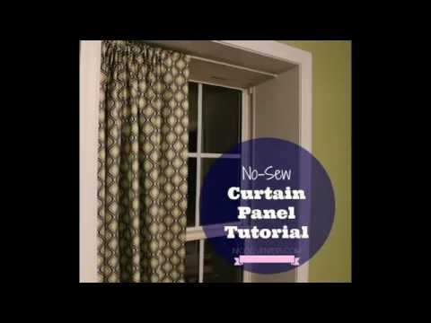 No-Sew Curtain Panels Tutorial