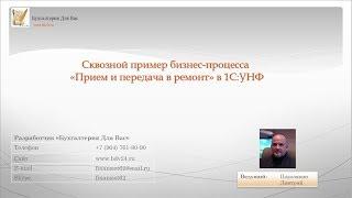 видео 1С УНФ бизнес процессы