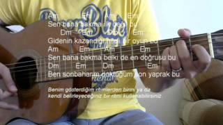 Gitar Dersi - Ben Ne Yangınlar Gördüm (Zakkum)
