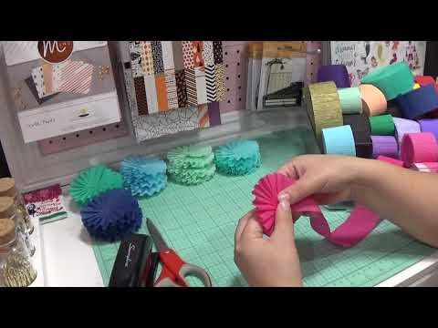 quick tutorial on how i do my crepe paper rosettes