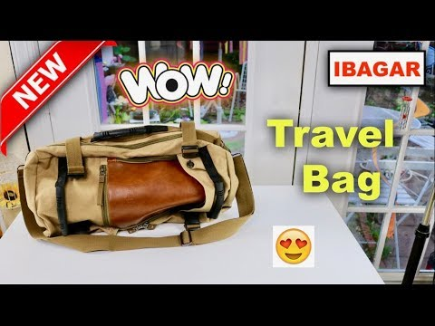 Ibagbar Canvas Backpack Travel Bag Review Youtube